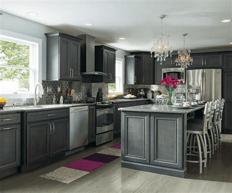 kraftmaid kitchen island 10 inspiring gray kitchen design ideas