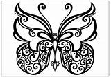 Butterfly Coloring Pages Printable Fun Colouring Sheets Spiral Cool Drawings Butter Tribal Printables Simple Water Different Adult sketch template