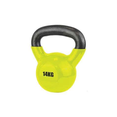 14kg kettlebell coated vinyl ufe yellow sports