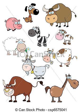 clipart animali clipart vettoriali di animali cartone animato collezione
