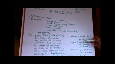 german lesson   write  letter niveau  youtube