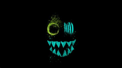 crazy neon eye teeth hd artist  wallpapers images