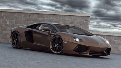 Lamborghini Aventador Modification by Lamborghini Aventador Brown Modification Wallpaper Saker