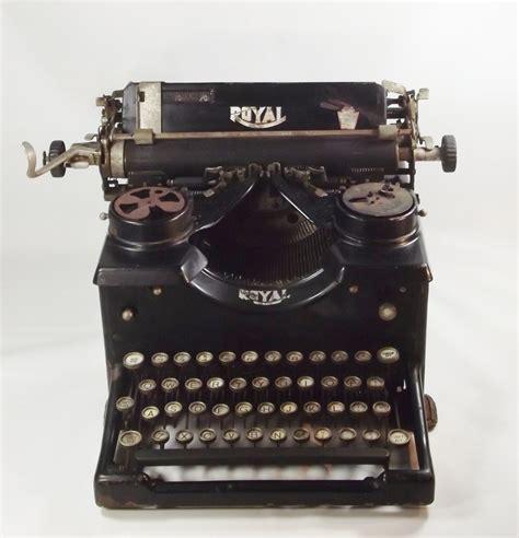 royal typewriter antique manual royal black typewriter