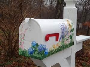 Hand Painted Mailboxes with Flowers