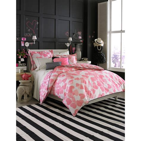 teen vogue pink hearts twin bedding comforter set pink