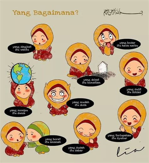 kartun dakwah images  pinterest islamic