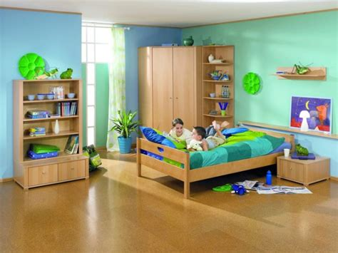 attractive green kids room designs