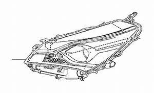 Toyota Yaris Headlight  Left   Unit  Headlight  Reflector