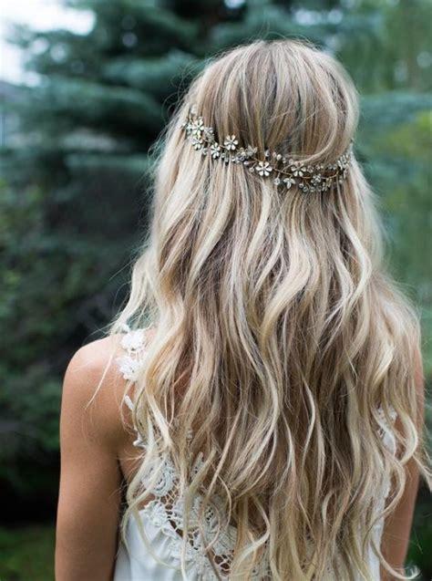 boho gold hair flower  halo hair vine gold hair