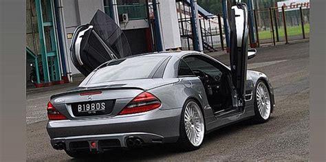 Modifikasi Mercedes Sl Class by Modifikasi Mercedes Sl 350 Berpintu Scissor