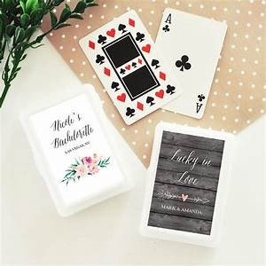 personalized playing card wedding favors garden wedding With playing card wedding favors