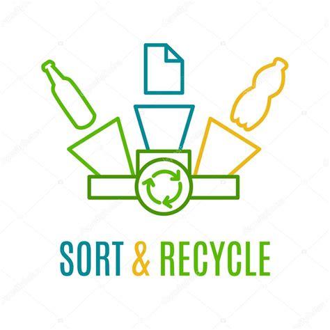 papier plastic en glas afval recycling logo stockvector 169 ksuperksu 91715376