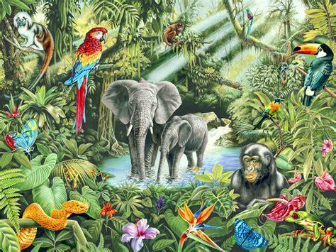 jungle decoration murale papier peint photo photowall