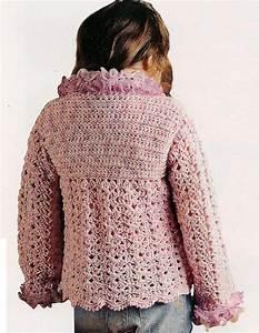 Saco Corte Princesa Para Ni U00f1a Tejido Crochet