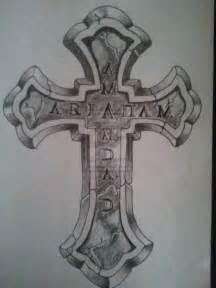 Cracked Stone Cross Tattoo Drawings
