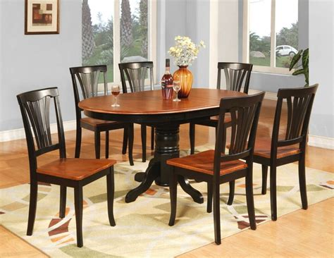 pc avon oval kitchen dining table   wood seat chairs