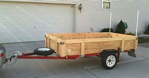 Folding Harbor Freight Utility Trailer   Would Need These