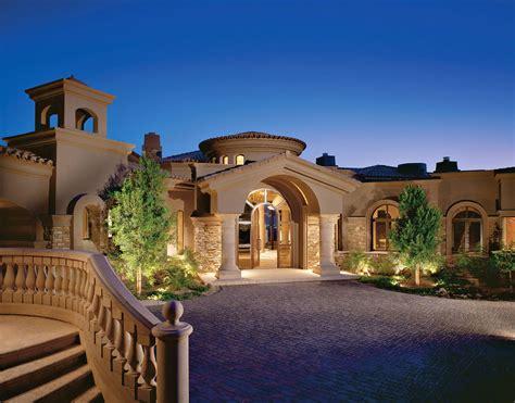 Luxury Tuscan Mediterranean Style House Plans Plan One