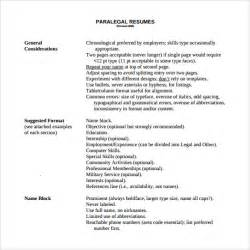 Paralegal Resume Template Word by Sle Paralegal Resume 11 Free Documents In
