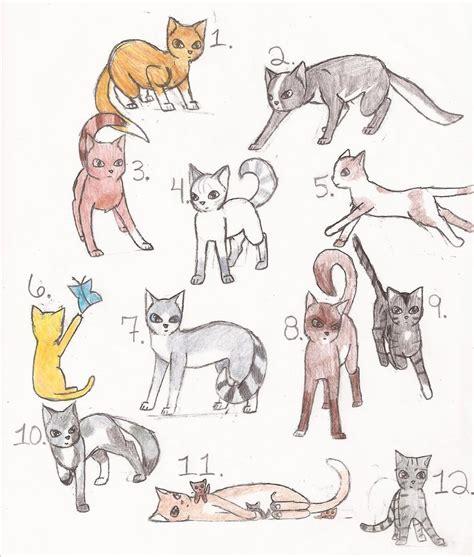 Warrior Cat Adoptables By Lunabell46 On Deviantart