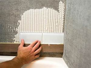 How To Install A Shower Tile Wall