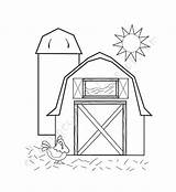 Barn Coloring Simple Drawing Printable Getdrawings sketch template