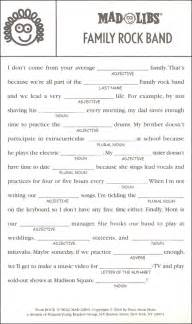 Adult Mad Libs Printable