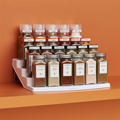 youcopia spicesteps  bottle cabinet spice rack