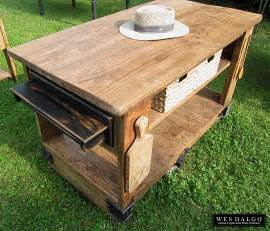 rustic kitchen islands rich golden oak rustic kitchen island cart with butcher block top