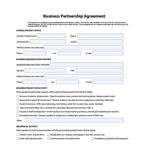 sample business partner agreement   documents