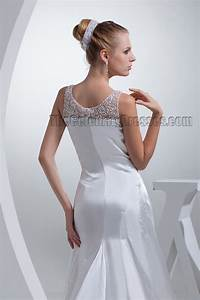 gorgeous sheath column silk like satin wedding dress With silk sheath wedding dress