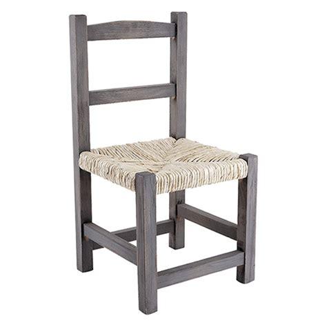 assise de chaise en paille chaise enfant 3 ans en bois gris et assise en paille de