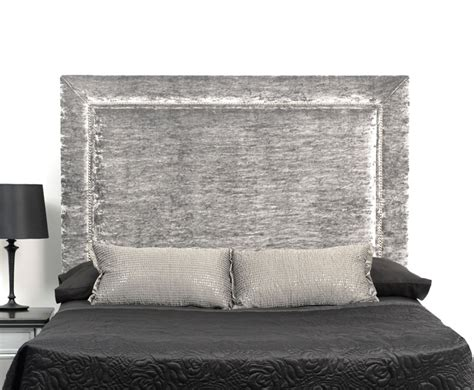 Uk King Size Headboards by Lennox Crushed Velvet Upholstered Headboard