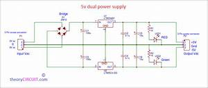 5v Dual Power Supply Circuit With Pcb