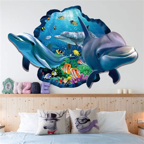 stereo shark sea wall stickers  water world
