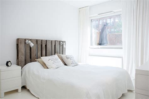 white rustic headboard decordots modern apartment with rustic touches