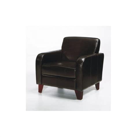 armen living tatyana leather club chair in brown lcms0011db