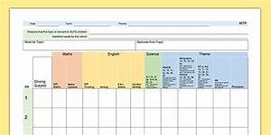 medium term plan template lesson plan plans With medium term plan template