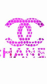 Chanel Logo Pink Points Painting by Del Art