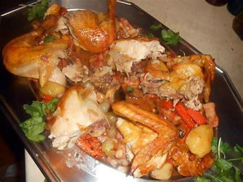 cuisine paysanne recette de poulet roti garniture paysanne
