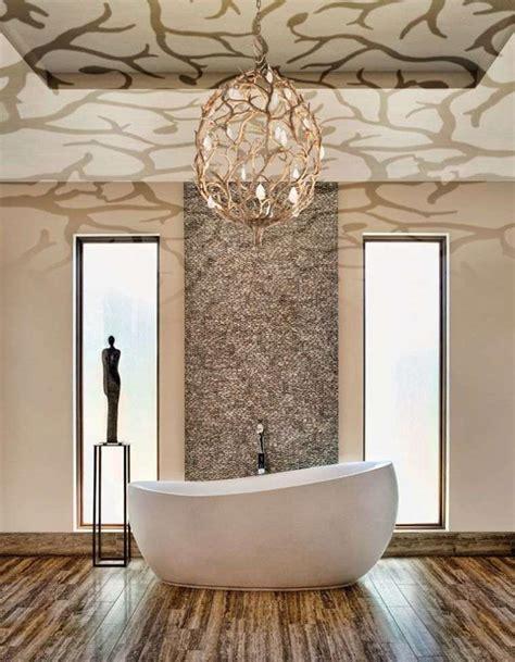 lustre salle de bain la d 233 co salle de bain de luxe se d 233 cline en style