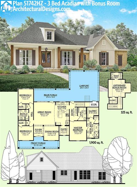 a house plan 158 best acadian style house plans images on