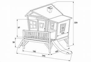 Plan Cabane En Bois Pdf : maisonnette enfant sur pilotis avec toboggan emma axi ~ Melissatoandfro.com Idées de Décoration