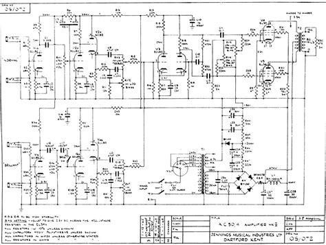 Vox Amplifier Schematic Page