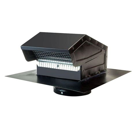 goose neck vent roof cap  black gnvbl  home