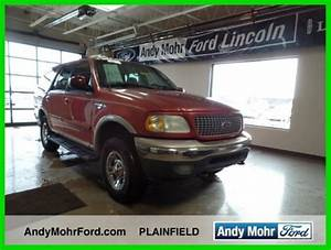 Used 99 Ford Expedition Eddie Bauer 5 4l V8 4x4 Suv Red Tan Leather No Reserve