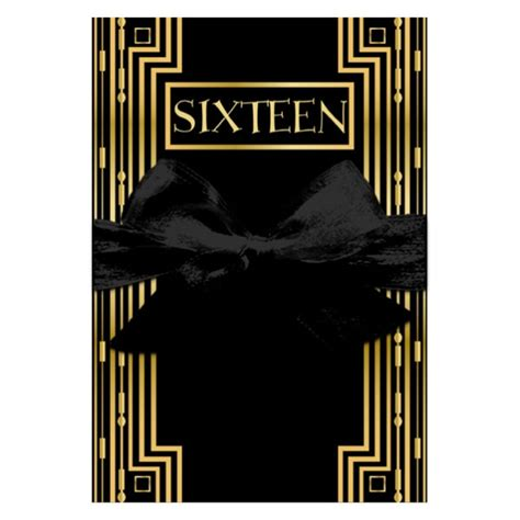 gatsby gold sweet sixteen gatefold invitations paperstyle