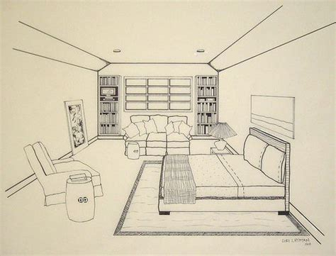 Drawing A Bedroom In Perspective by Bedroom Drawing Point Perspective Unique Picture Point