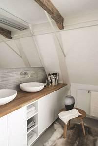 Salle De Bain Plan De Travail : id e de salle de bain blanche plan de travail en bois ~ Melissatoandfro.com Idées de Décoration